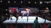 Monique Dupree & Monet Dupree faces Hornswoggle at House of Hardcore 40